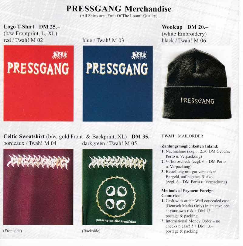 Pressgang merchandise