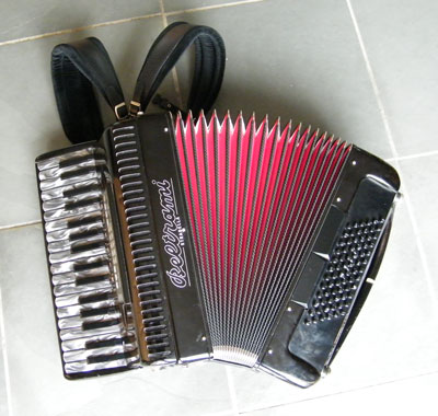 Beltrami accordion with red bellows