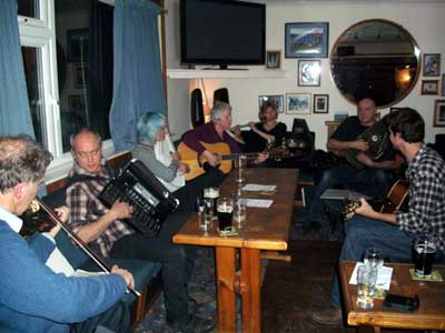 Musicians at the Dingle Acoustic Session in Narberth