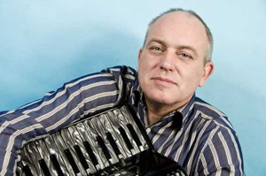 George relaxes with his accordion
