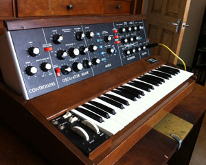 Original Minimoog from 1976 - it came from Germany so I like to think it could be on a Kraftwerk recording!