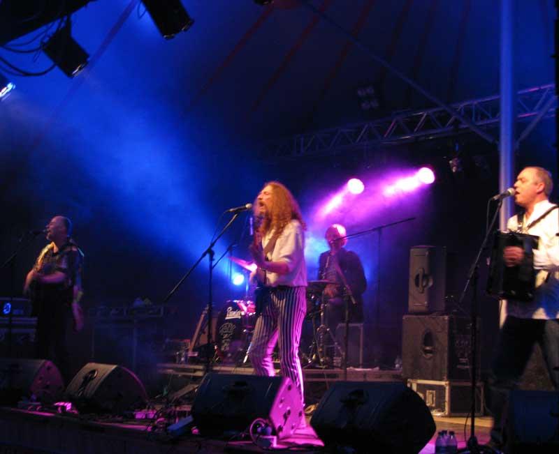 Pressgang at a festival