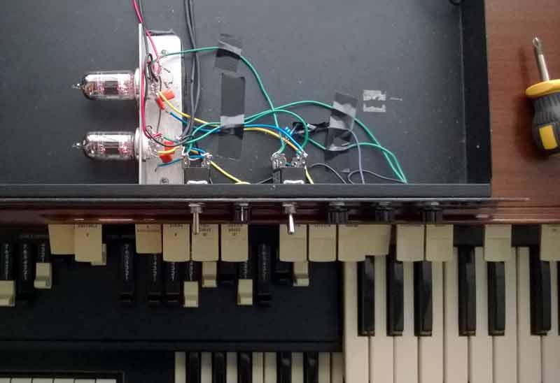 Homemade Valve Overdrive for Hammond T-202