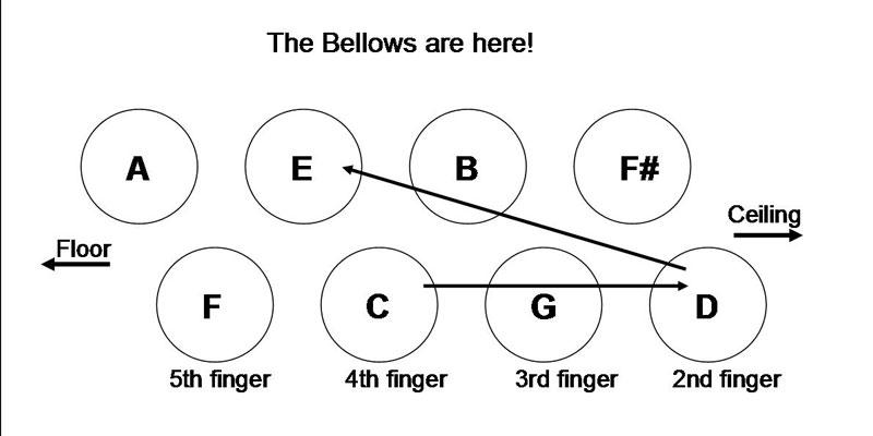 Bass Scale Diagram C Major