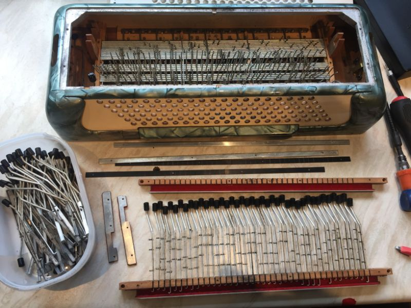 Marinucci Accordion with Bass Mechanism Mostly Removed