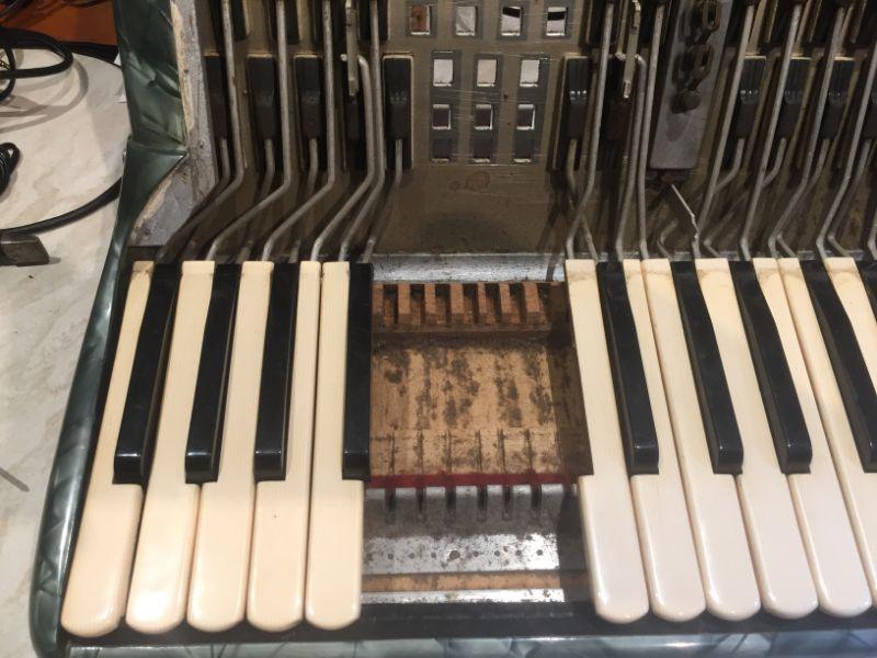 Dusty under keyboard