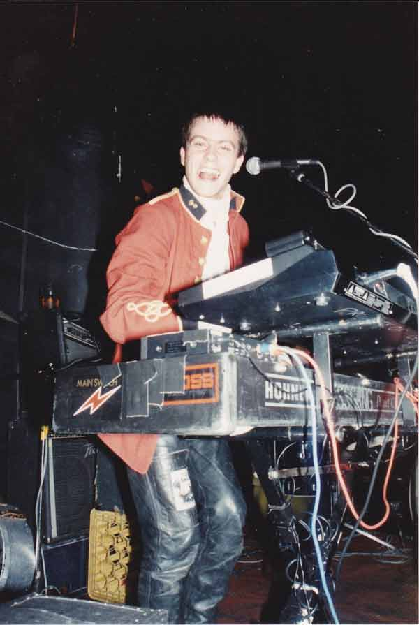George Whitfield playing keyboards