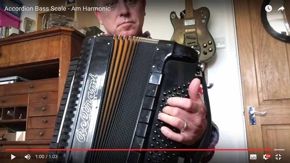 Accordion Bass Scale - Harmonic Mino