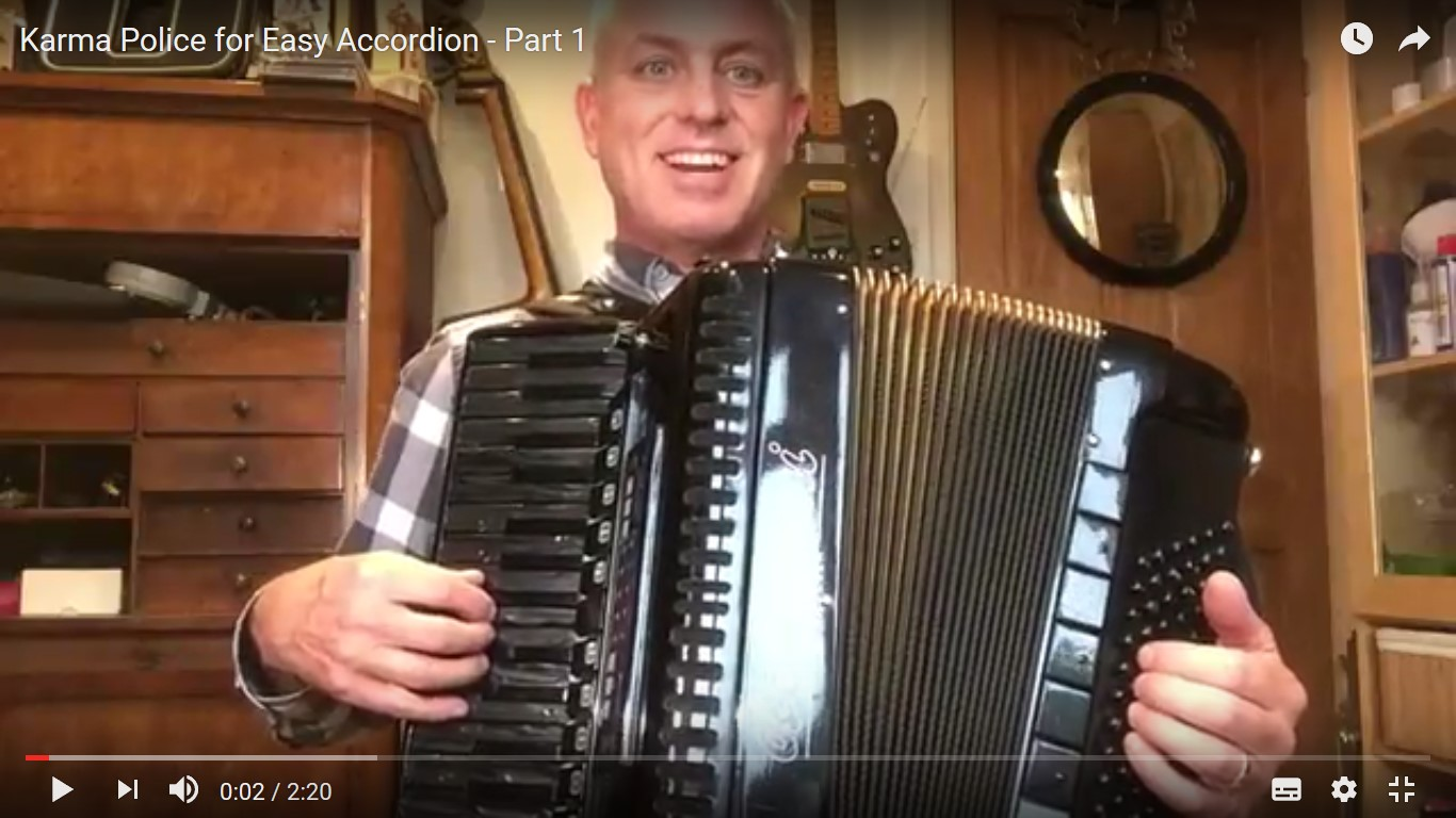 Karma Police for Easy Accordion